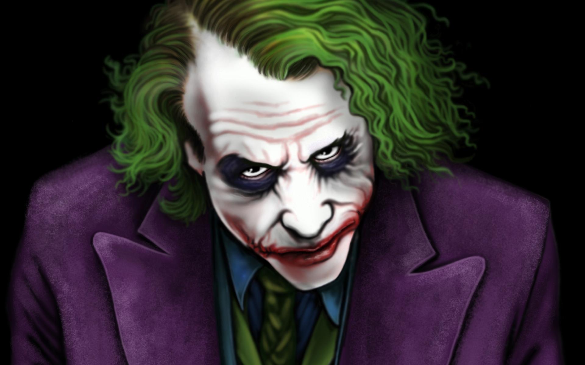 Wallpaper Of Heath Ledger Joker Painting Art The Heath