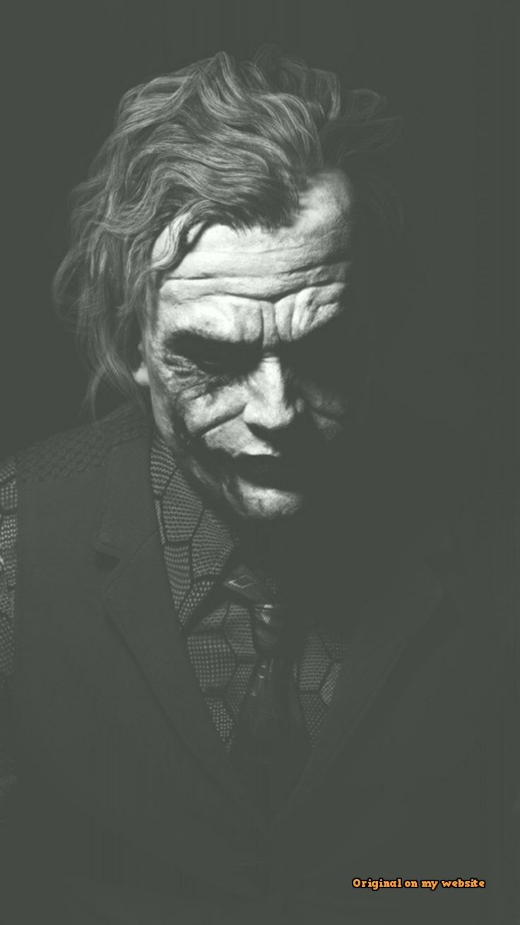 Heath Ledger Joker Monochrome Batman Batman 1076529 Hd