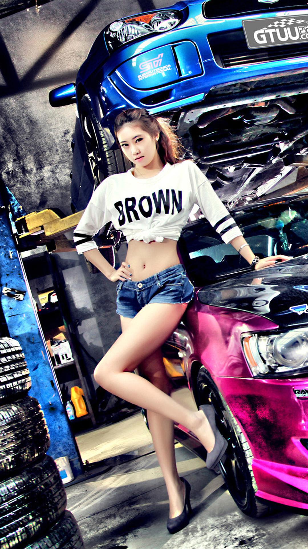 Car Girl Wallpaper For Iphone 1077404 Hd Wallpaper