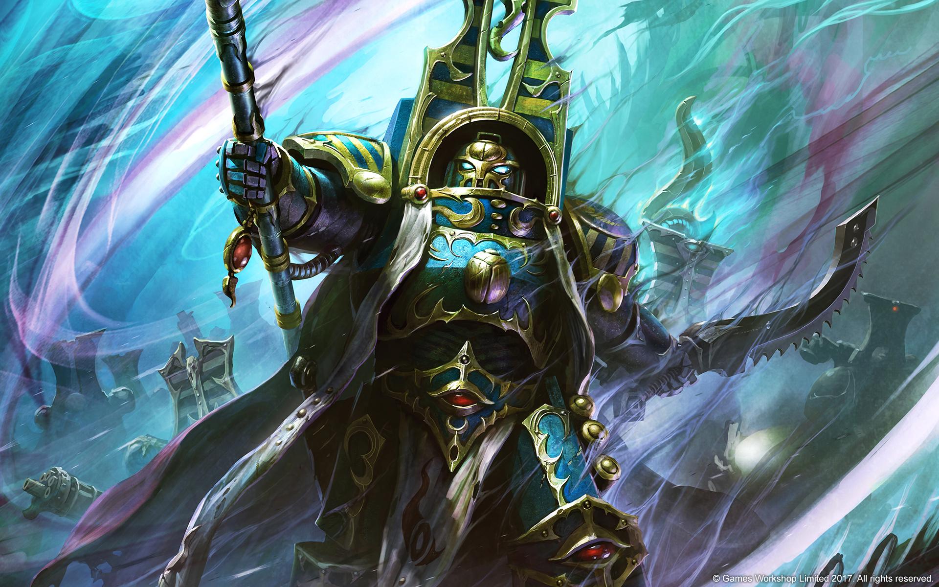 Warhammer 40k Battle Report - Warhammer 40k Thousand Sons Art , HD Wallpaper & Backgrounds