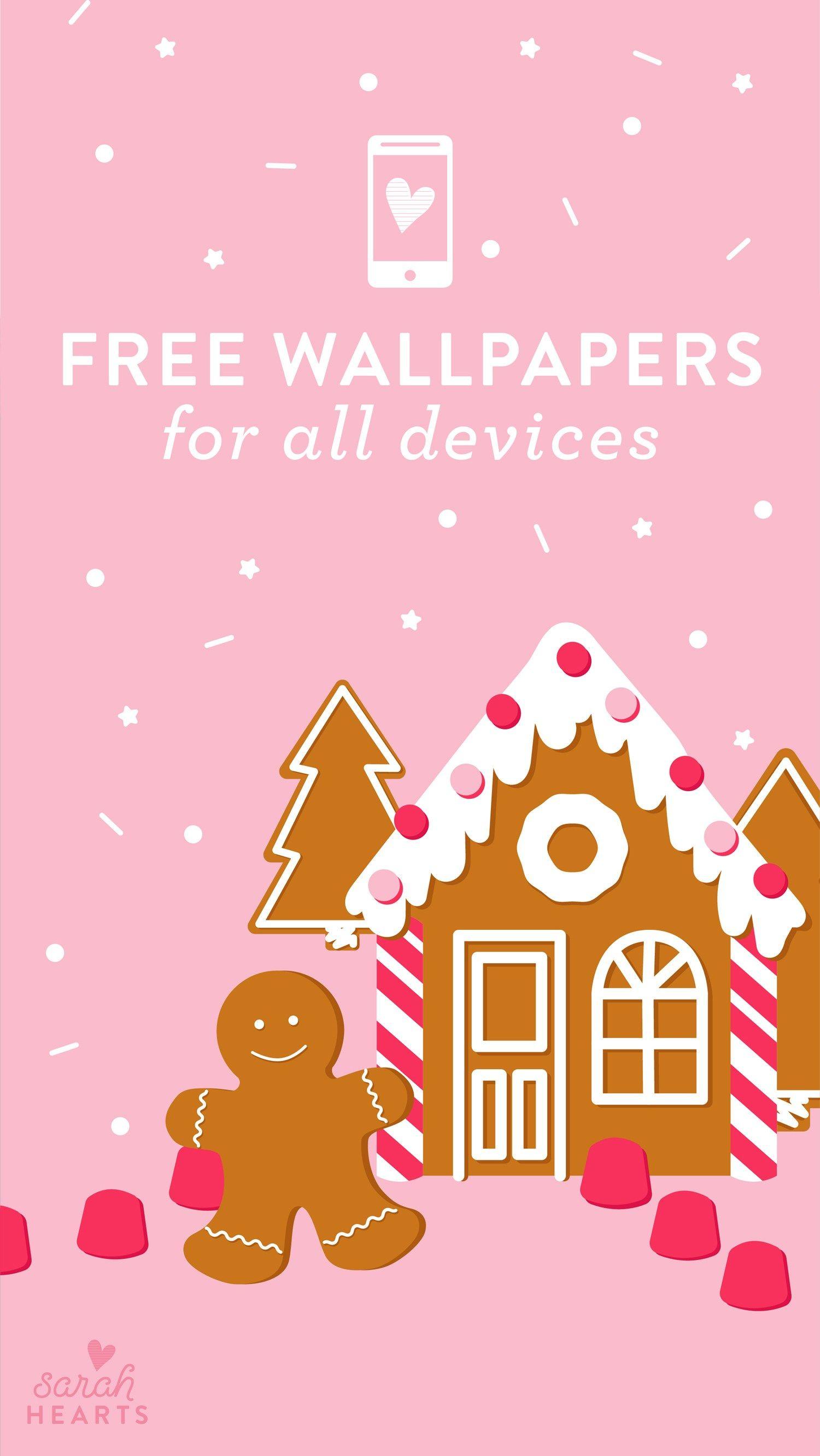 December 2018 Gingerbread House Calendar Wallpaper - Calendar Wallpaper December 2018 , HD Wallpaper & Backgrounds