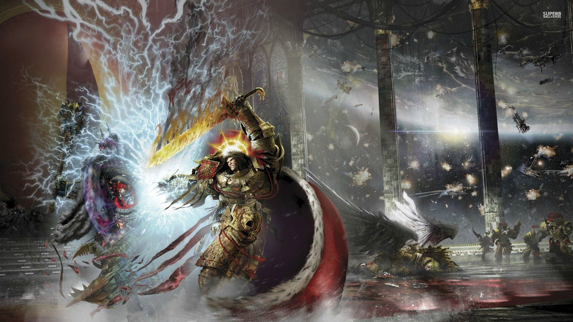 Horus Heresy Warhammer 40k Hd Wallpaper Warhammer 40k