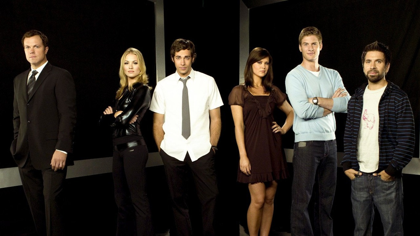 Chuck Wallpaper - Chuck Show Cast Season 2 , HD Wallpaper & Backgrounds