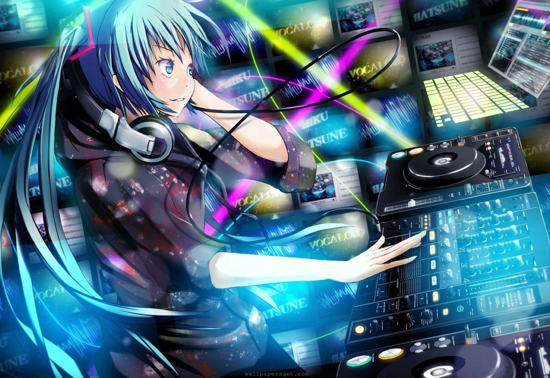 Anime Dj Music Wallpaper Anime Dj 1086178 Hd Wallpaper