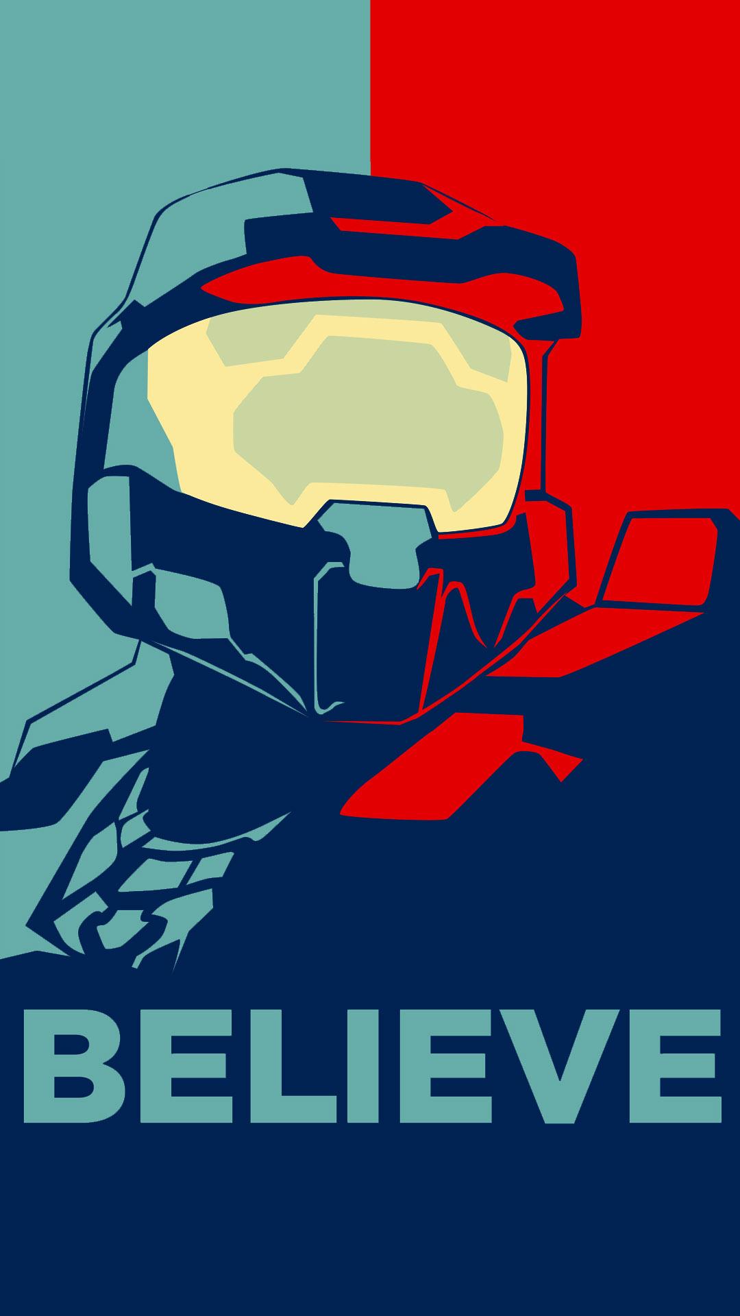 Halo Believe Vector Master Chief Pop Art 1086313 Hd Wallpaper Backgrounds Download