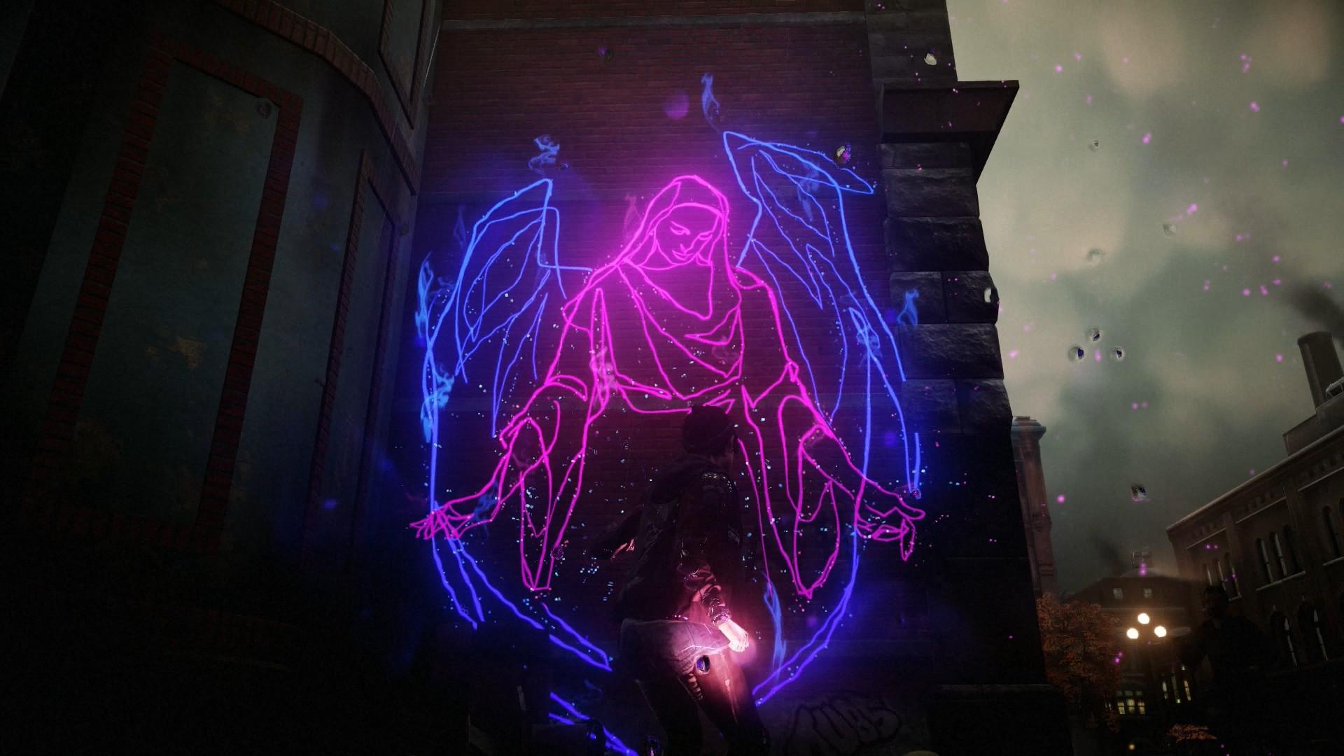 First Light Hd Wallpaper Hd Infamous First Light Neon