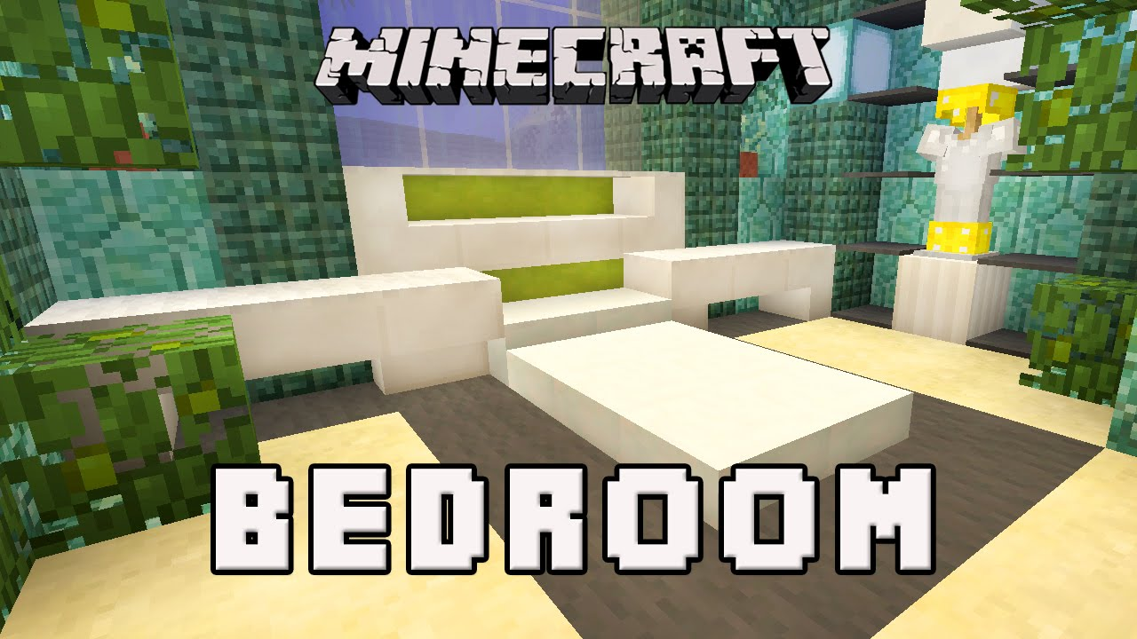 3d Minecraft Wall Decals Designs Bedroom Ideas In Real - Minecraft Modern Bed Design , HD Wallpaper & Backgrounds