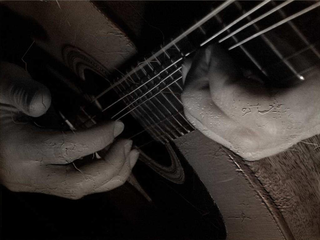 Guitar Wallpaper Wall - Classical Guitar , HD Wallpaper & Backgrounds
