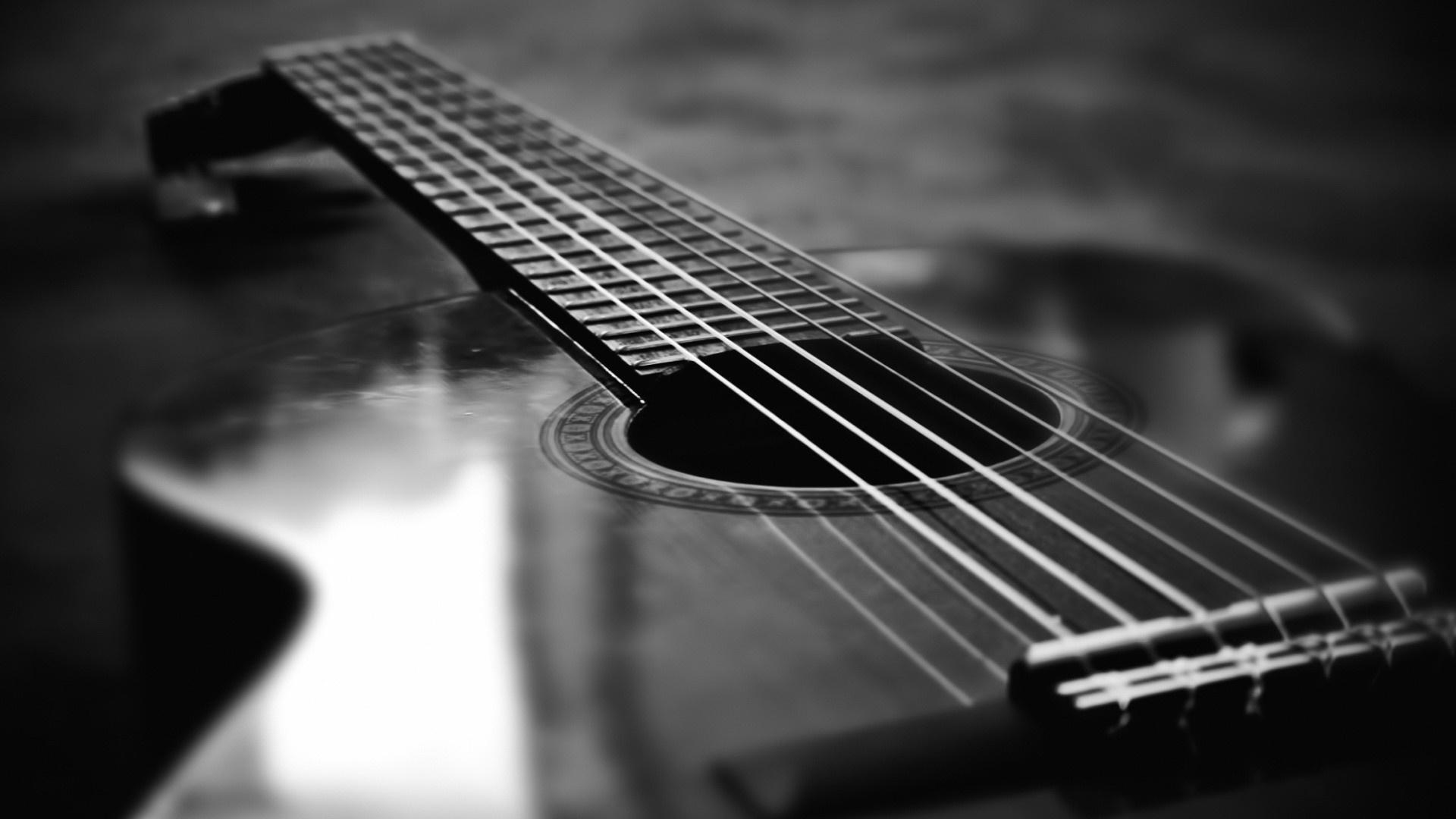 Black And White Guitar Wallpaper Acoustic Guitar 110729 Hd Wallpaper Backgrounds Download