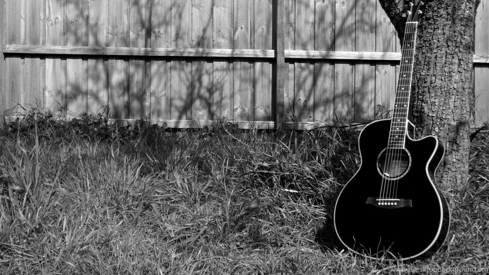 Guitar Wallpaper For My Desktop 1600x900 Black And White Guitar 110808 Hd Wallpaper Backgrounds Download