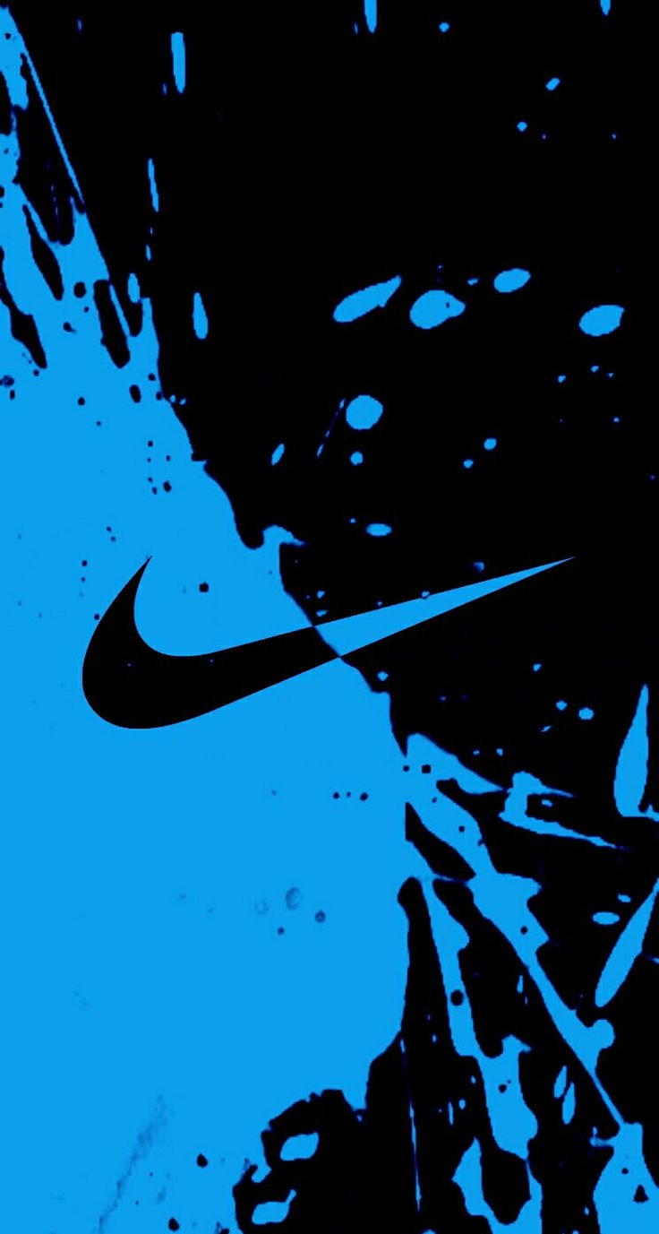 Blue Nike Wallpaper Iphone 6 Resolution Blue And Black Nike Logo 111861 Hd Wallpaper Backgrounds Download