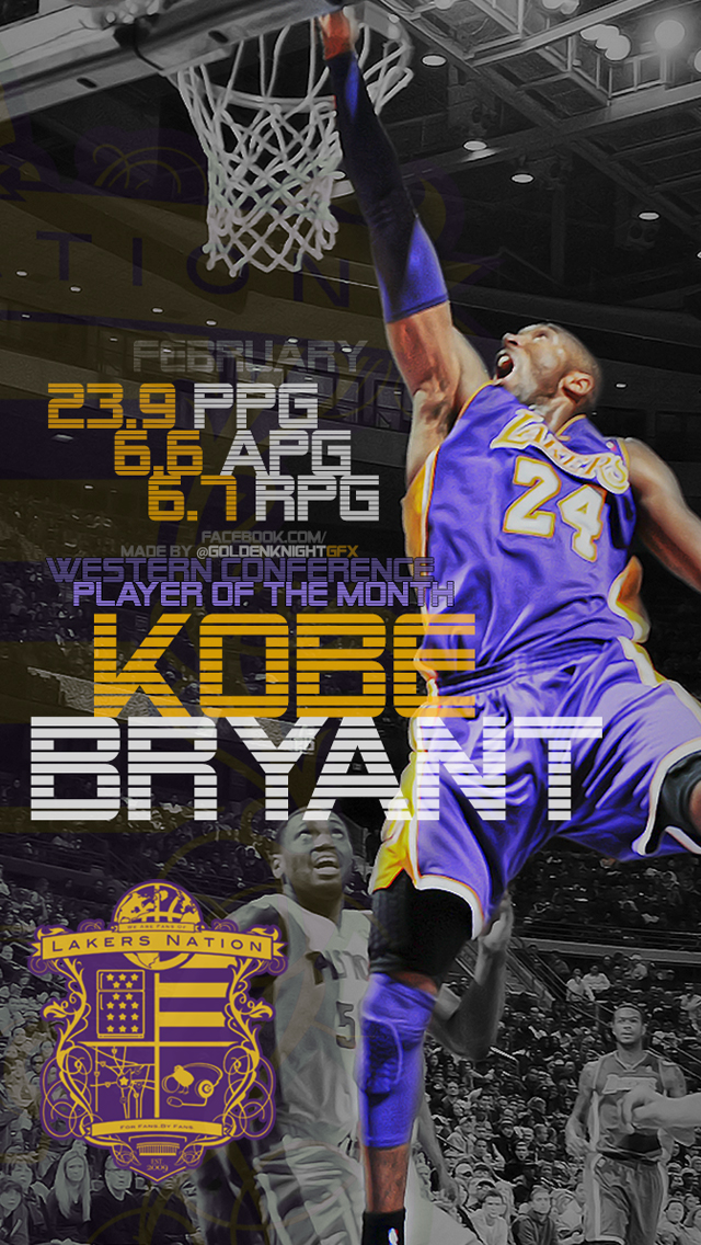 Kobe Bryant Iphone 6 Wallpaper 39 Images On Genchi , Lakers