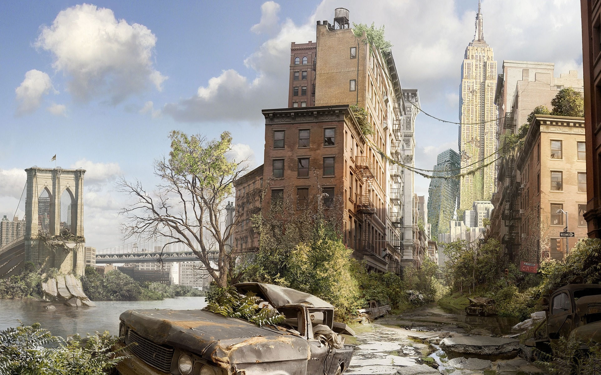 New York Destroyed Art , HD Wallpaper & Backgrounds