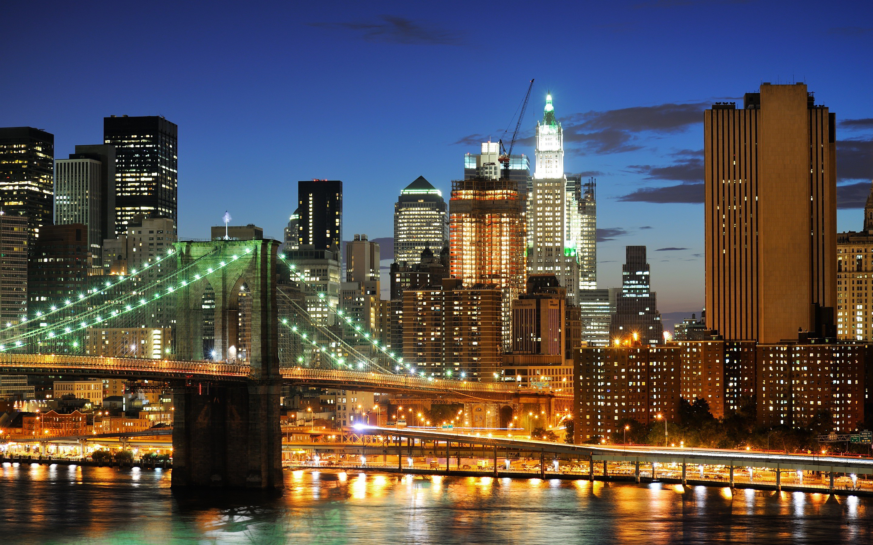 Attractive City Manhattan Bridge Double Decker New - New York City Hd , HD Wallpaper & Backgrounds