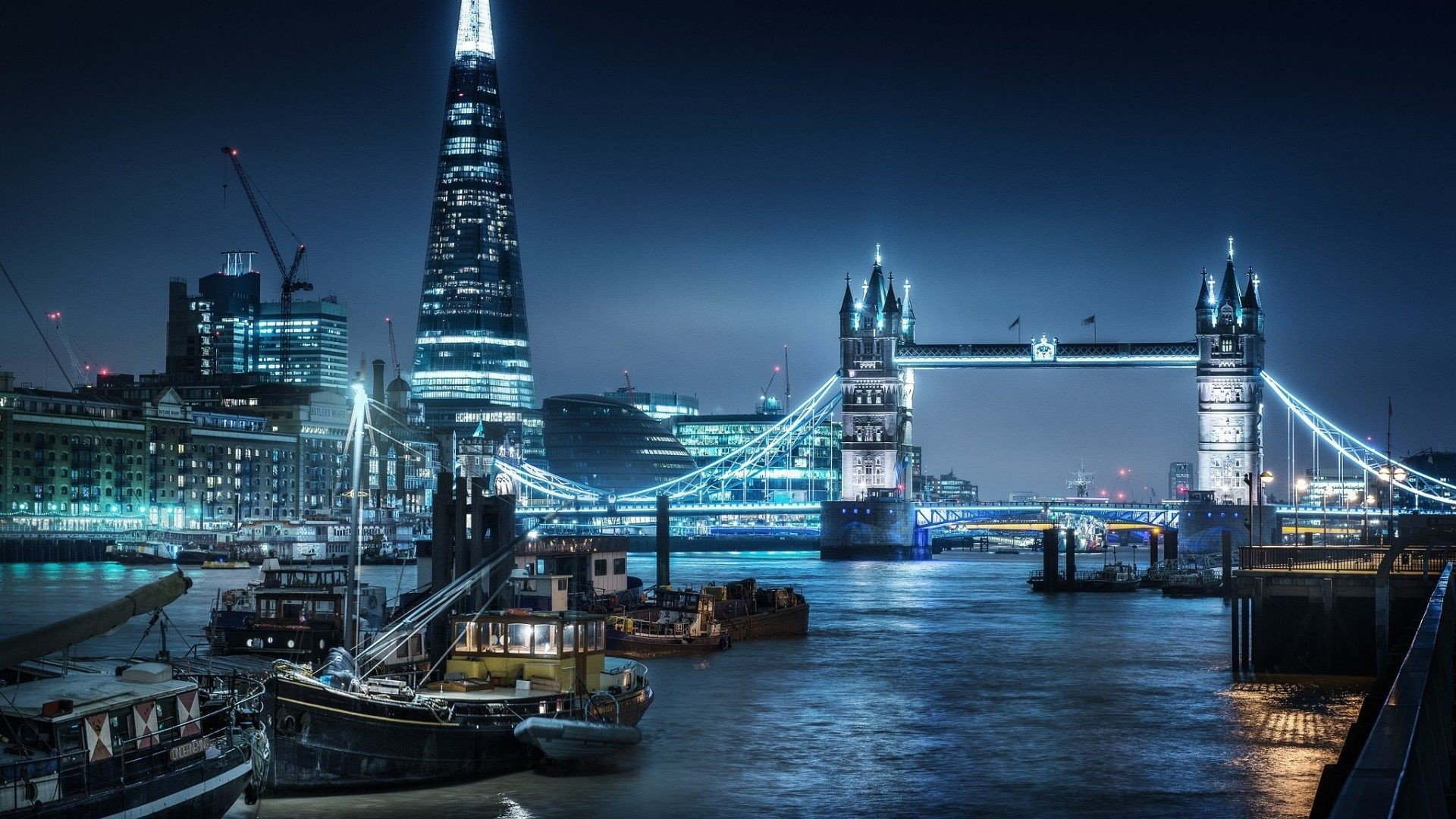 London City At Night Hd 115804 Hd Wallpaper Backgrounds Download