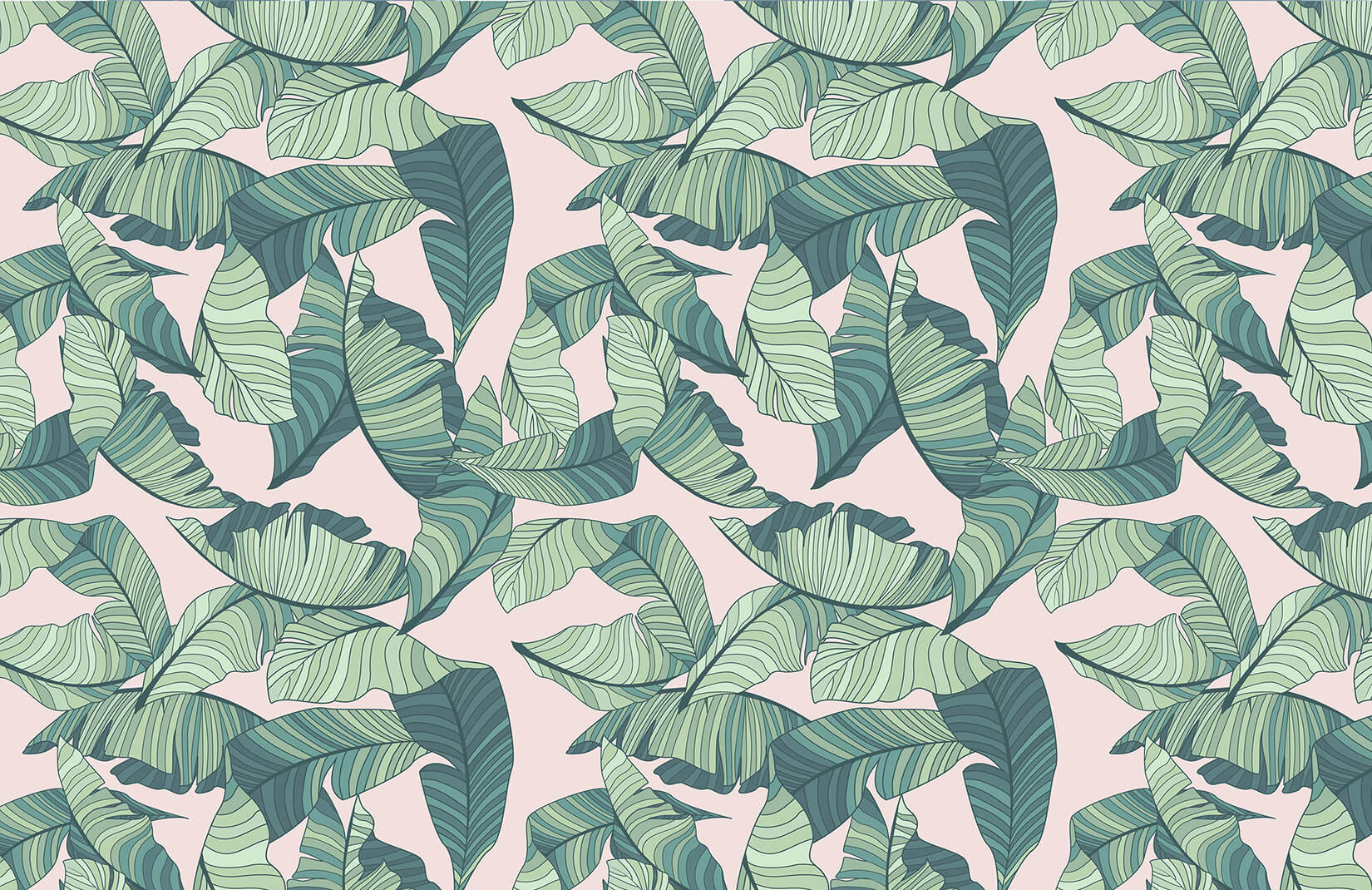 Pink And Green Tropical Leaf 116200 Hd Wallpaper