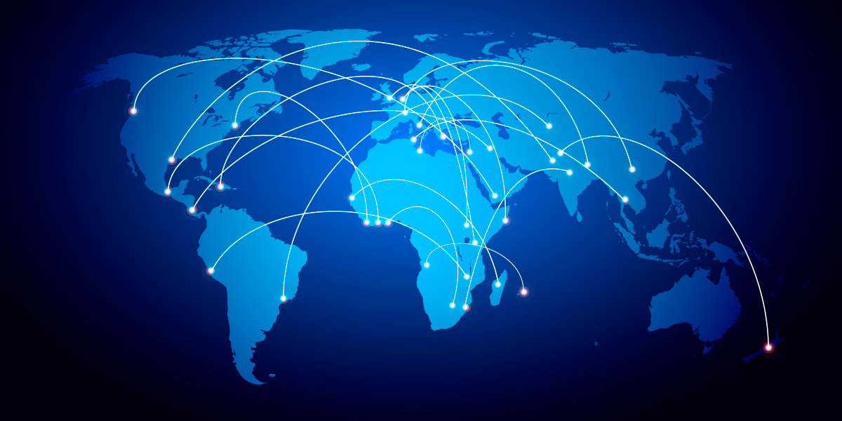 110 1101333 a global capacity exchange world map free stock
