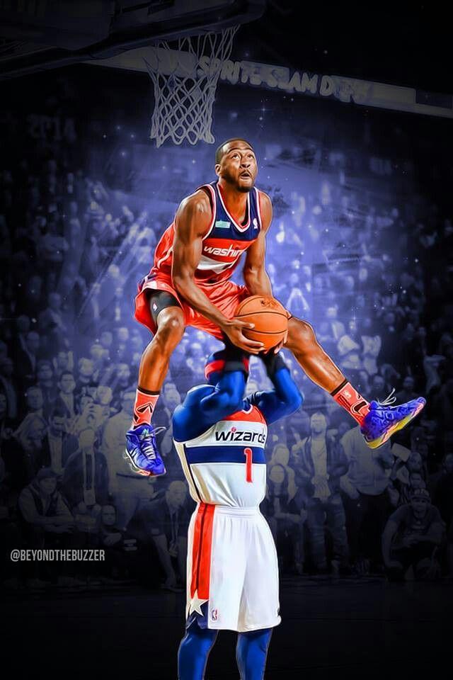 John Wall Winning Dunk I Love Basketball, Basketball - John Wall Dunking , HD Wallpaper & Backgrounds