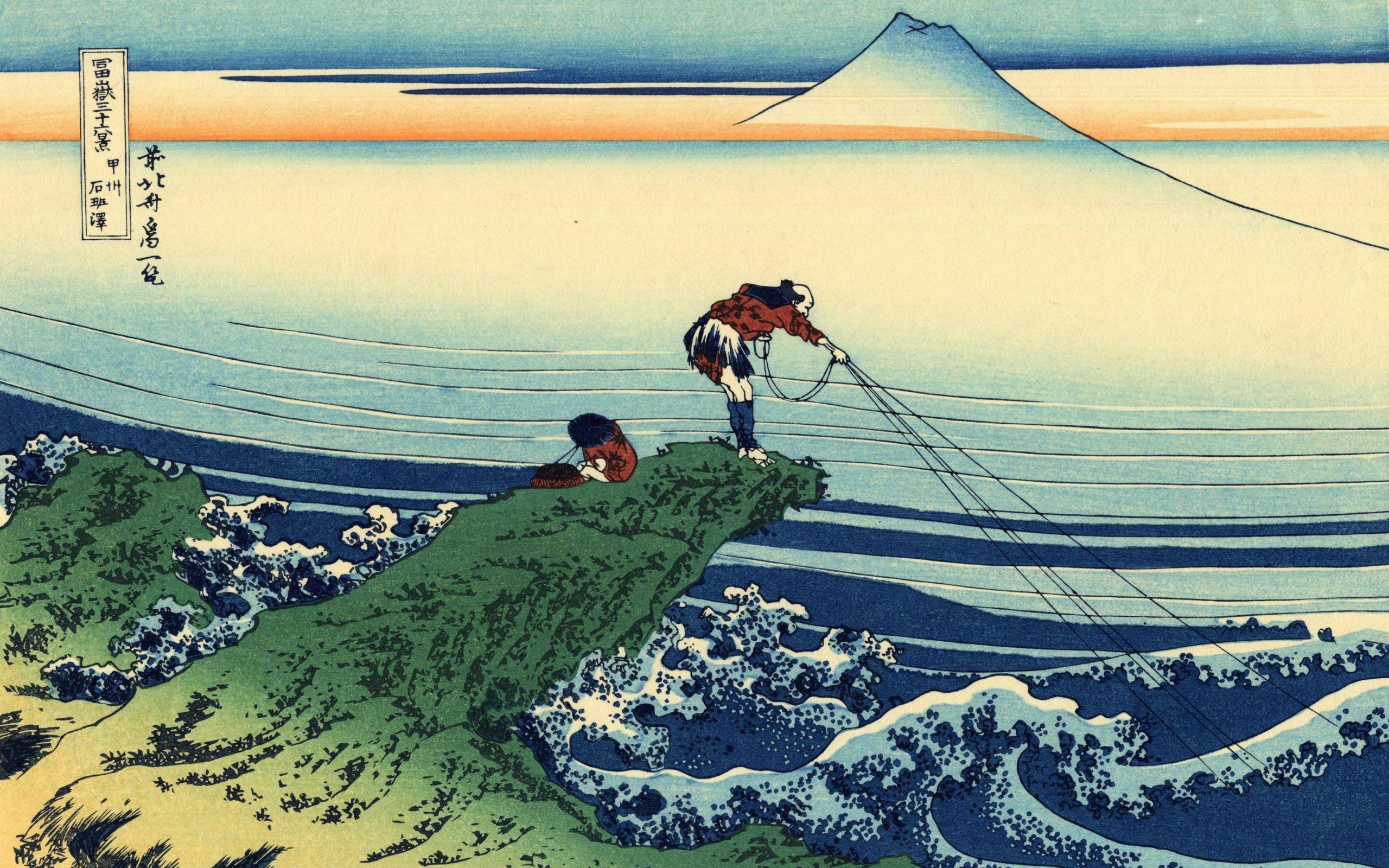 Katsushika Hokusai Thirtysix Views Of Mount Fuji Wallpaper - Thirty Six Views Of Mount Fuji , HD Wallpaper & Backgrounds
