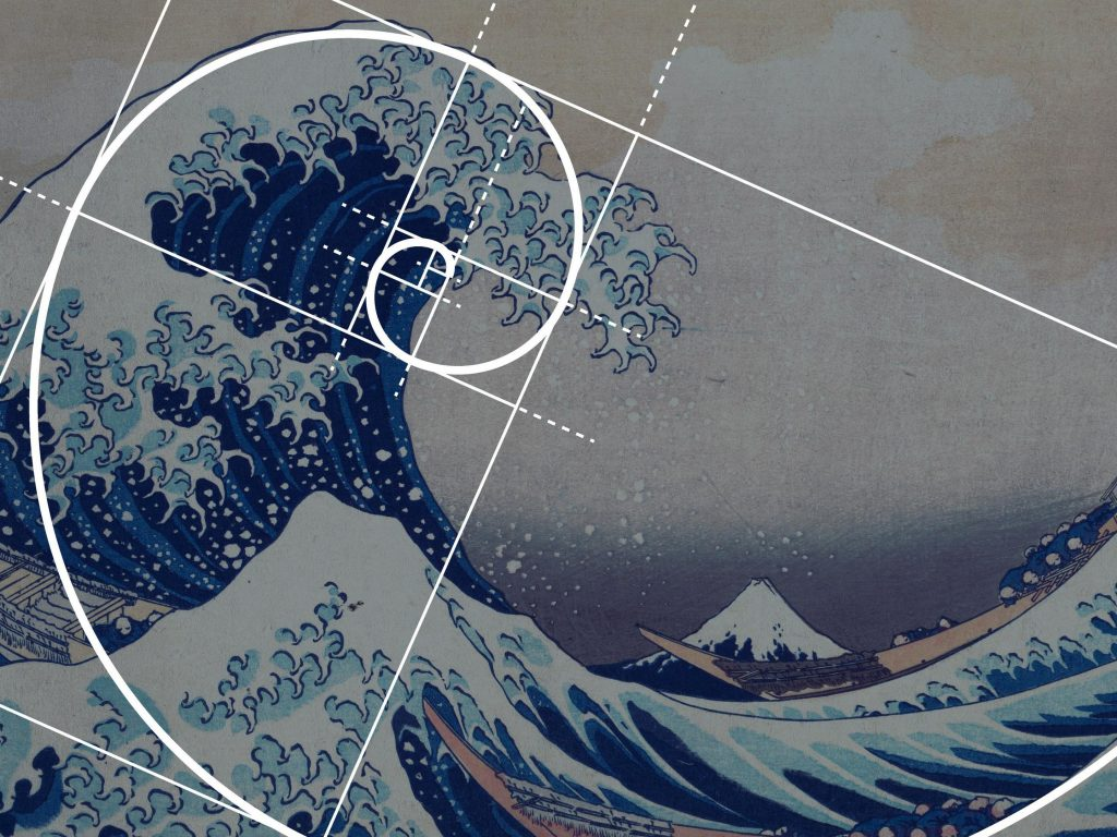 Hokusai Fibonacci Wallpaper Japanese Art 1102925 Hd
