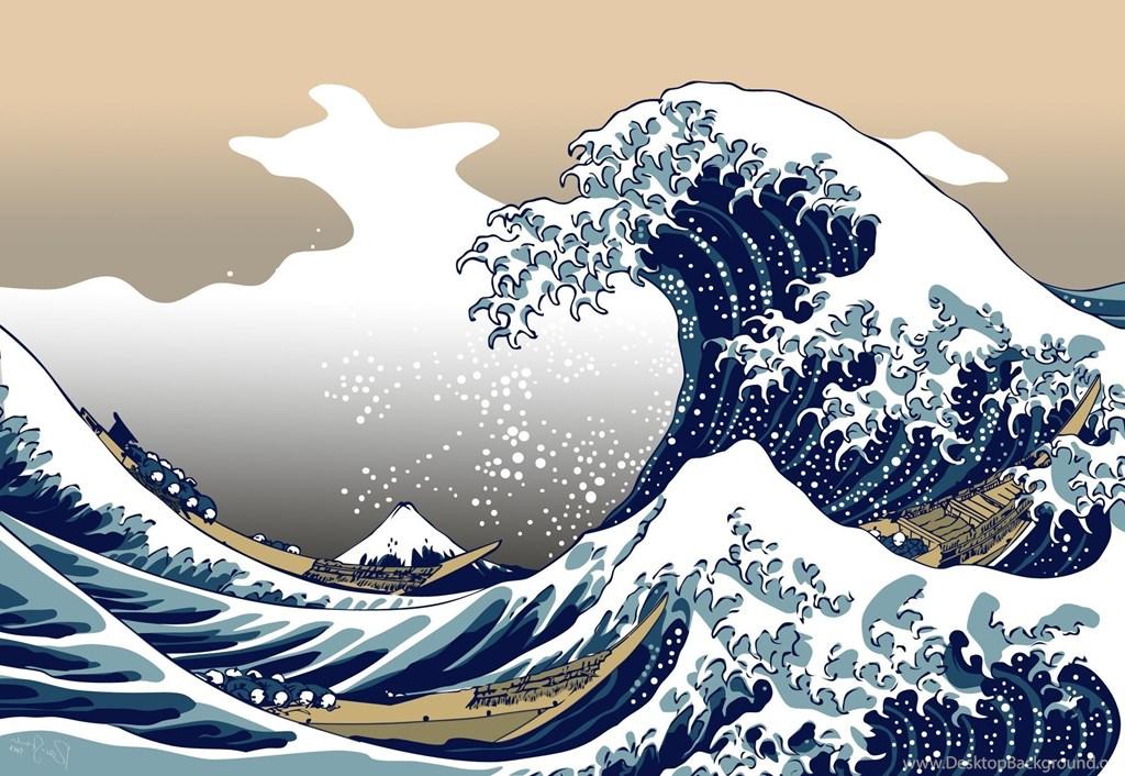 The Great Wave Wallpaper Great Wave Off Kanagawa Wallpaper