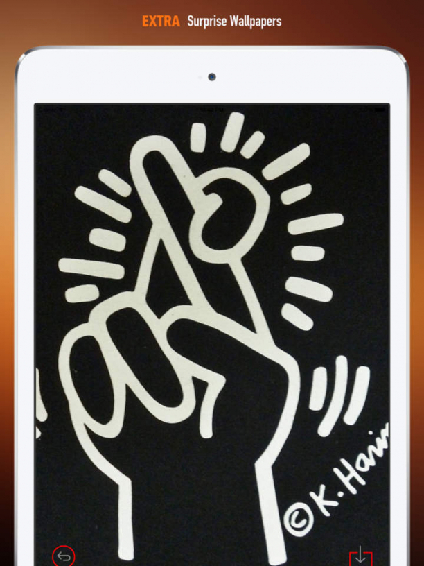 Keith Haring Iphone Wallpaper - Keith Haring Crossed Finger , HD Wallpaper & Backgrounds
