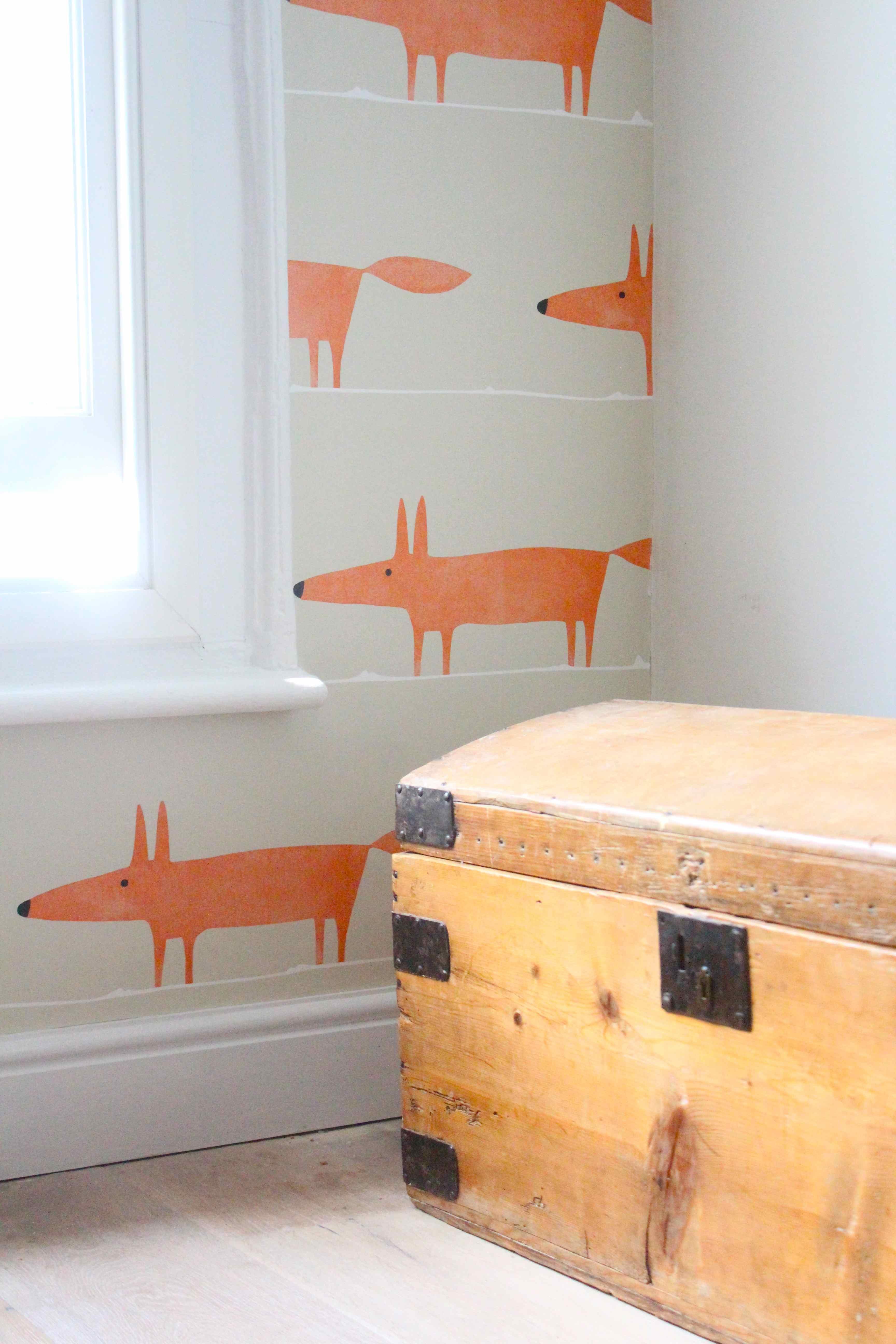 Mr Fox Ginger Wallpaper Scion Mr Fox Nursery 1111403 Hd Wallpaper Backgrounds Download