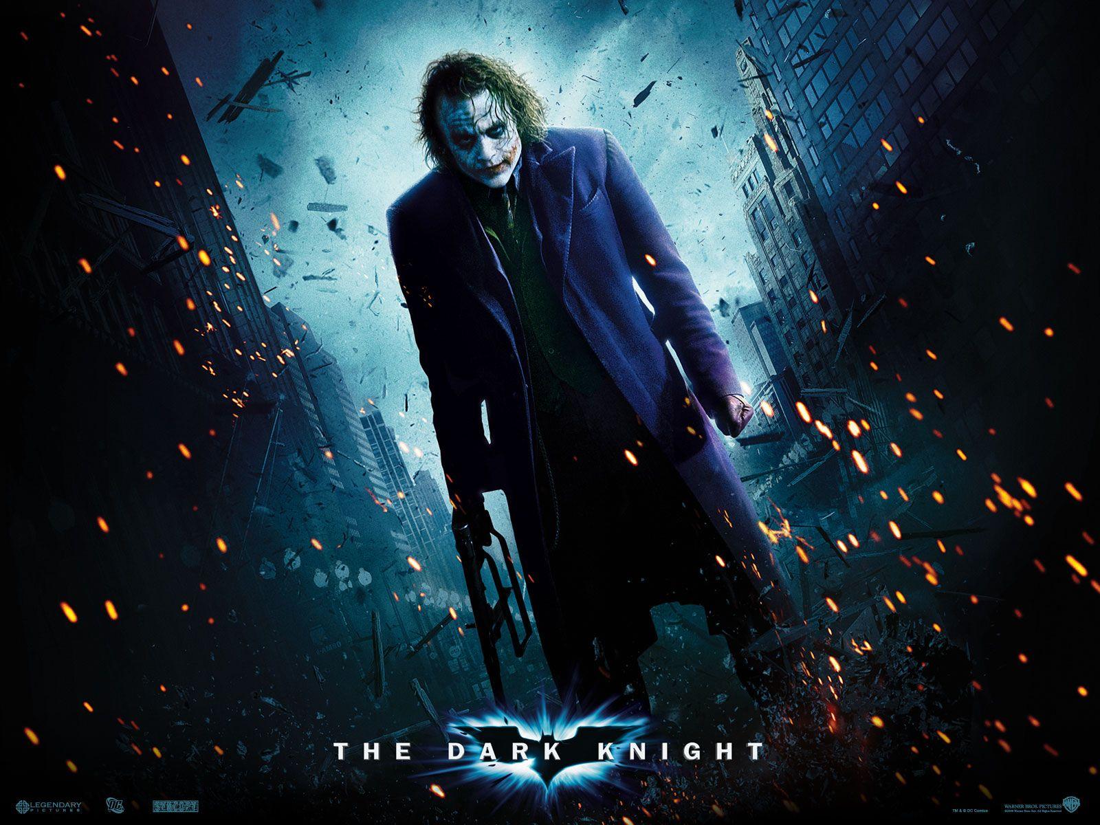 Batman - Batman The Dark Knight Wallpaper Joker , HD Wallpaper & Backgrounds