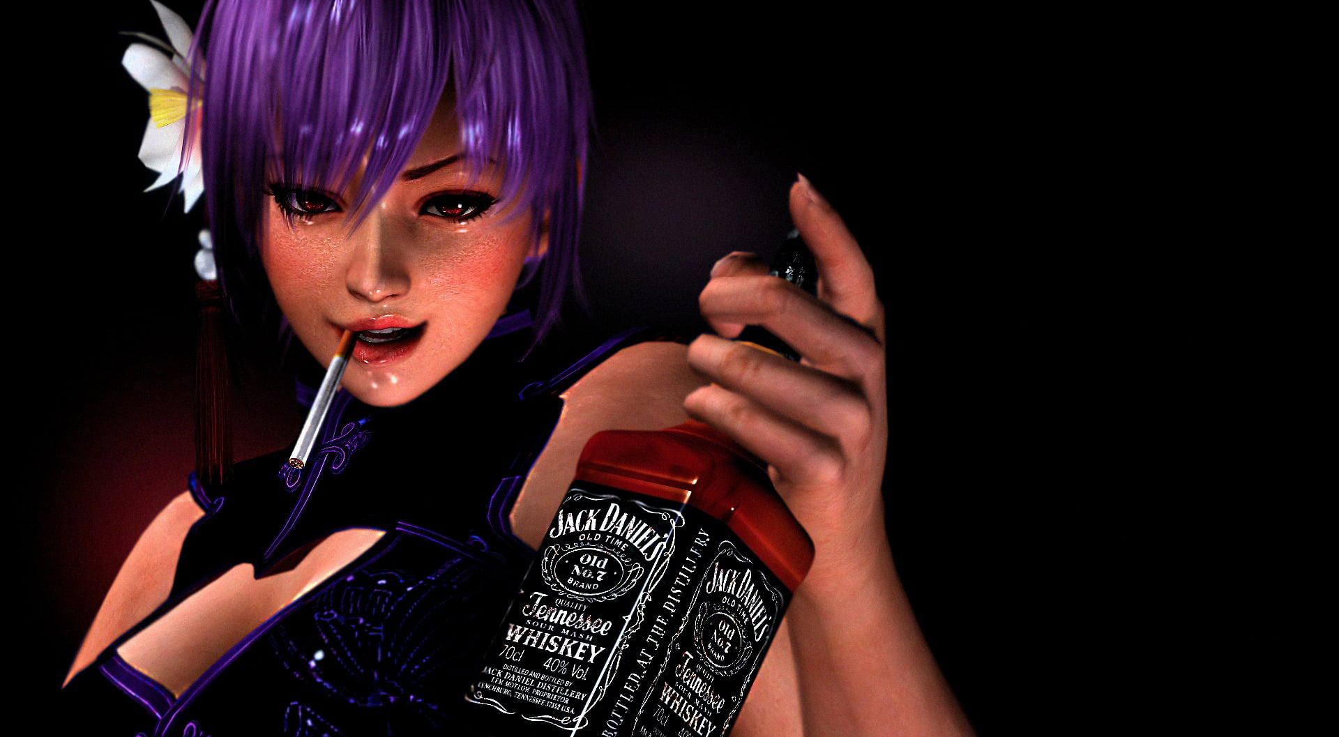 dead or alive doa ayane jack daniel s one person girl