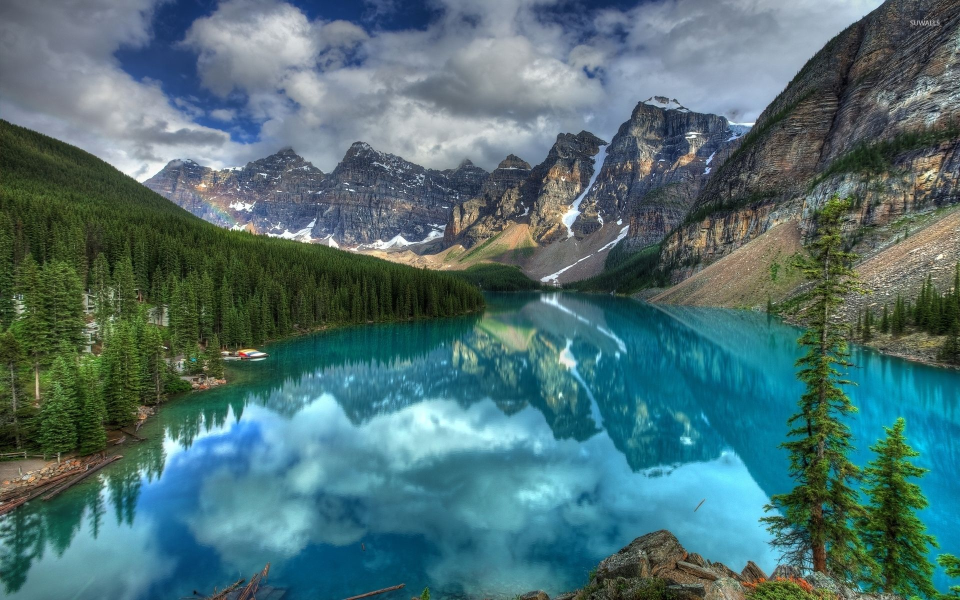 Banff National Park Wallpaper Turquoise Lake In Banff