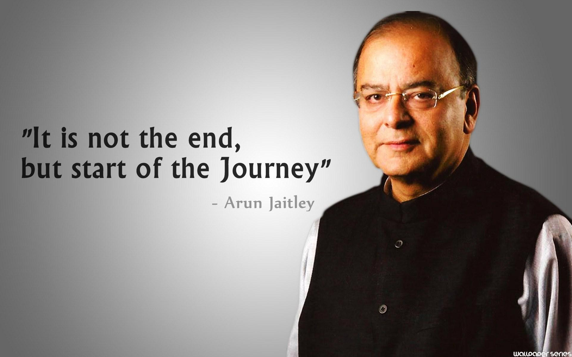 Arun Jaitley - Journey Quotes - Quotes Related To Gst , HD Wallpaper & Backgrounds