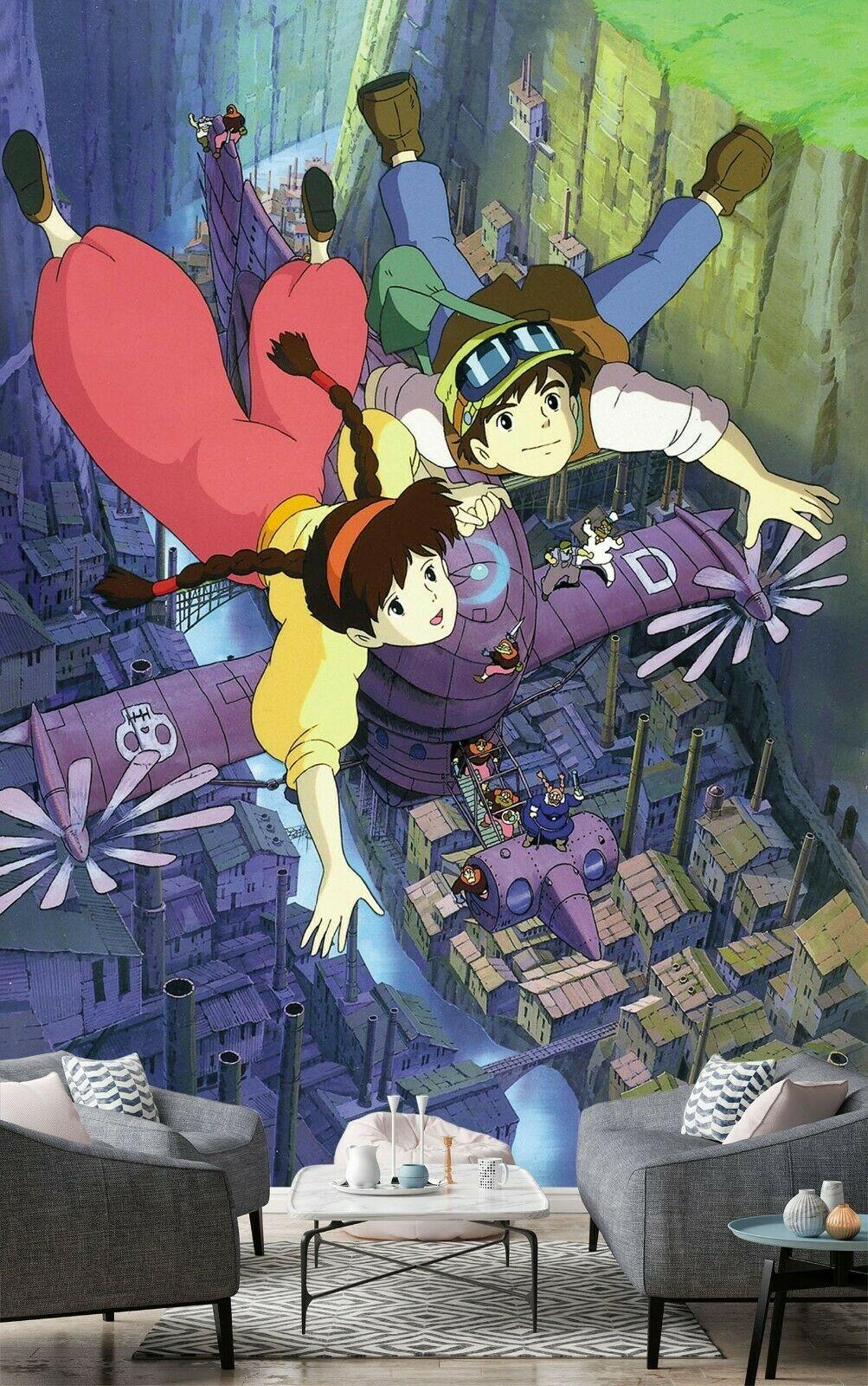 3d Castle In The Sky 125 Japan Anime Game Wallpaper Laputa