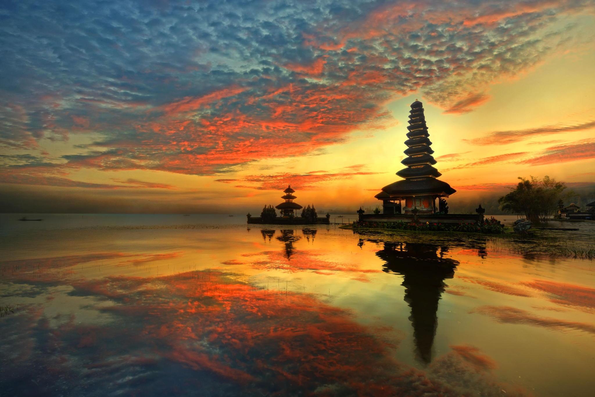 Bali 4k Pura Ulun Danu Bratan 1121300 Hd Wallpaper