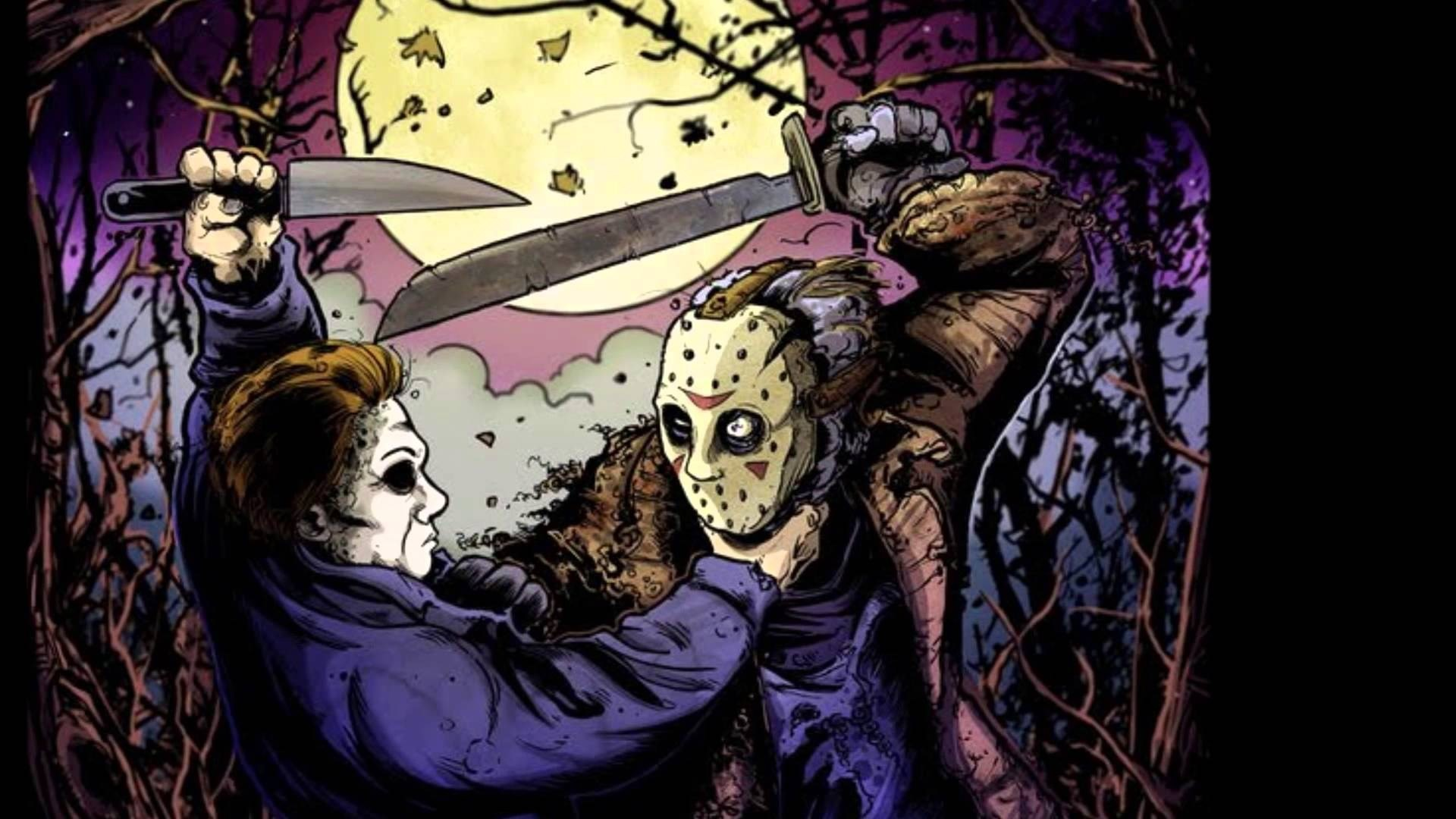 Halloween 2 Wallpapers Jason Voorhees Vs Michael Myers Art