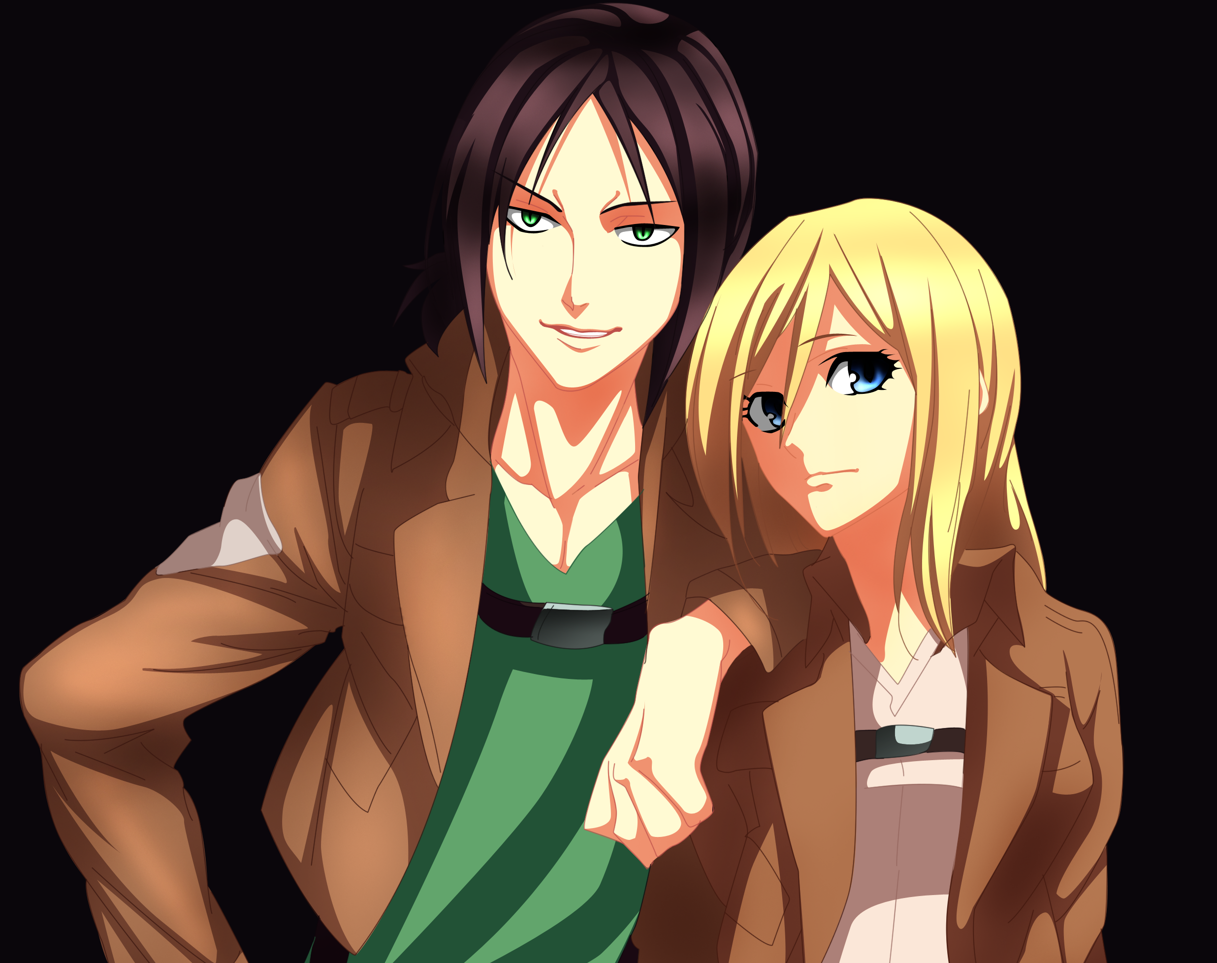 Ymir Historia Reiss Wallpaper And Background Ymir X Krista Deviantart 1122772 Hd Wallpaper Backgrounds Download