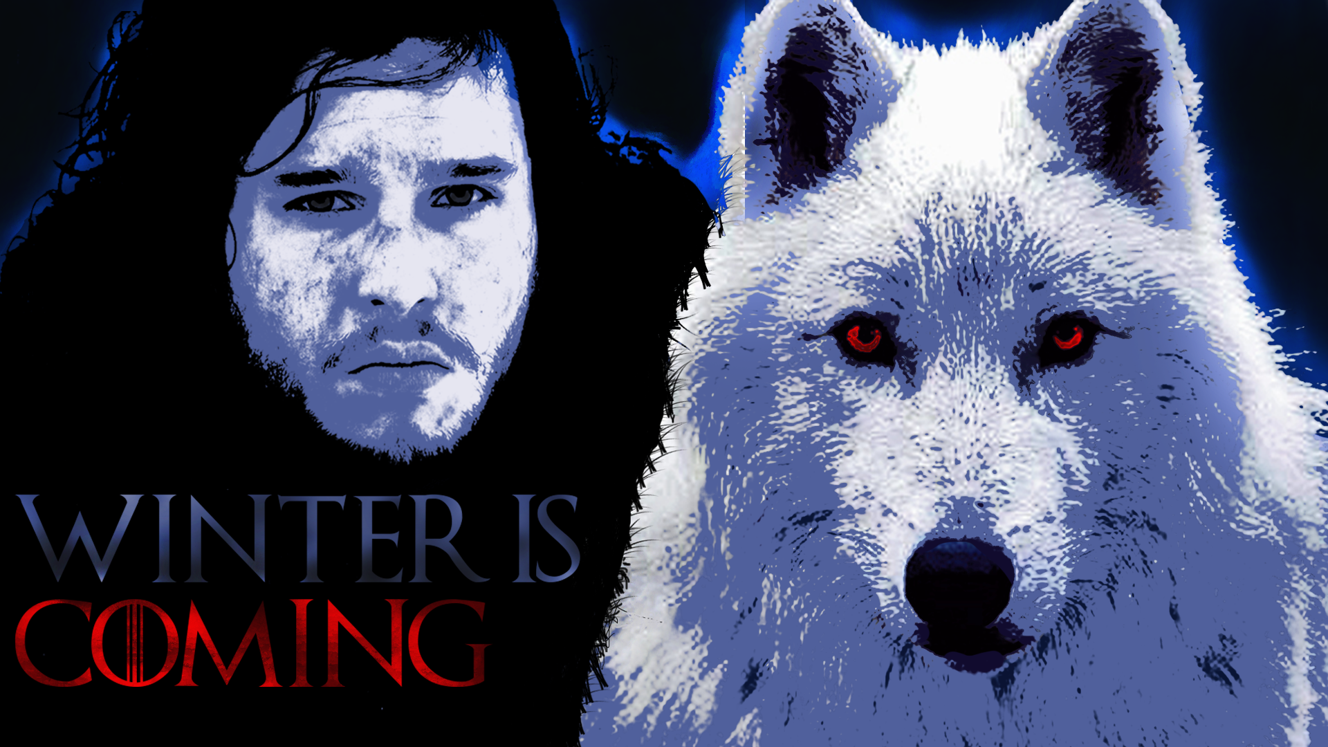 Jon Snow And Ghost Wallpaper Snow Game Of Thrones Wolf