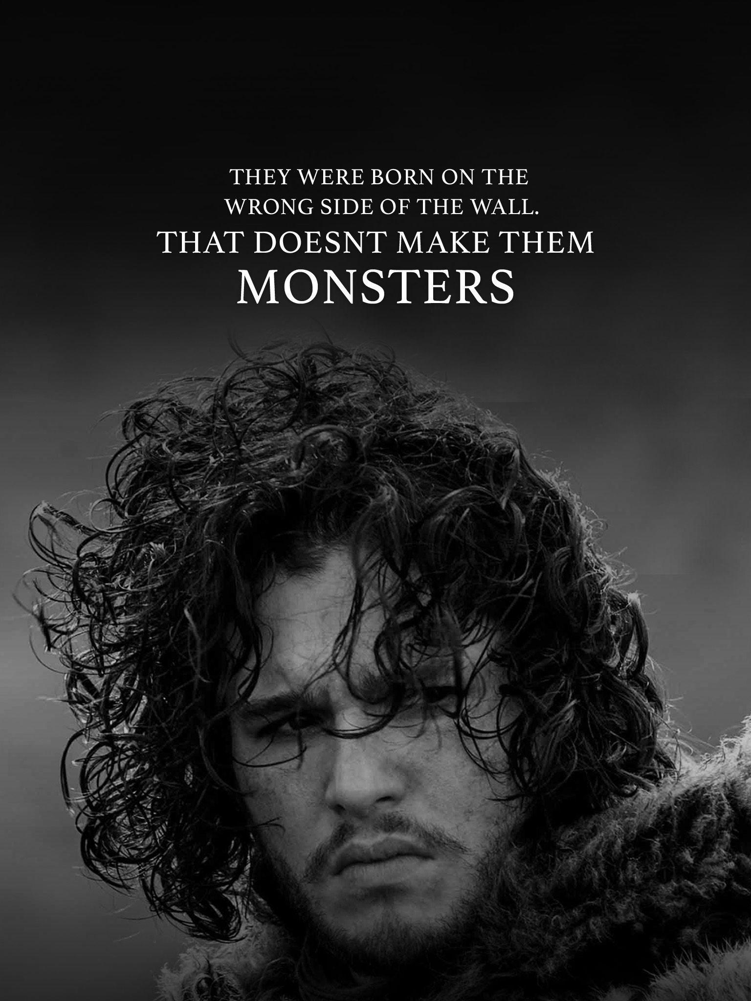 Jon Snow Wallpaper Quote Movowall Jon Snow 1124391 Hd