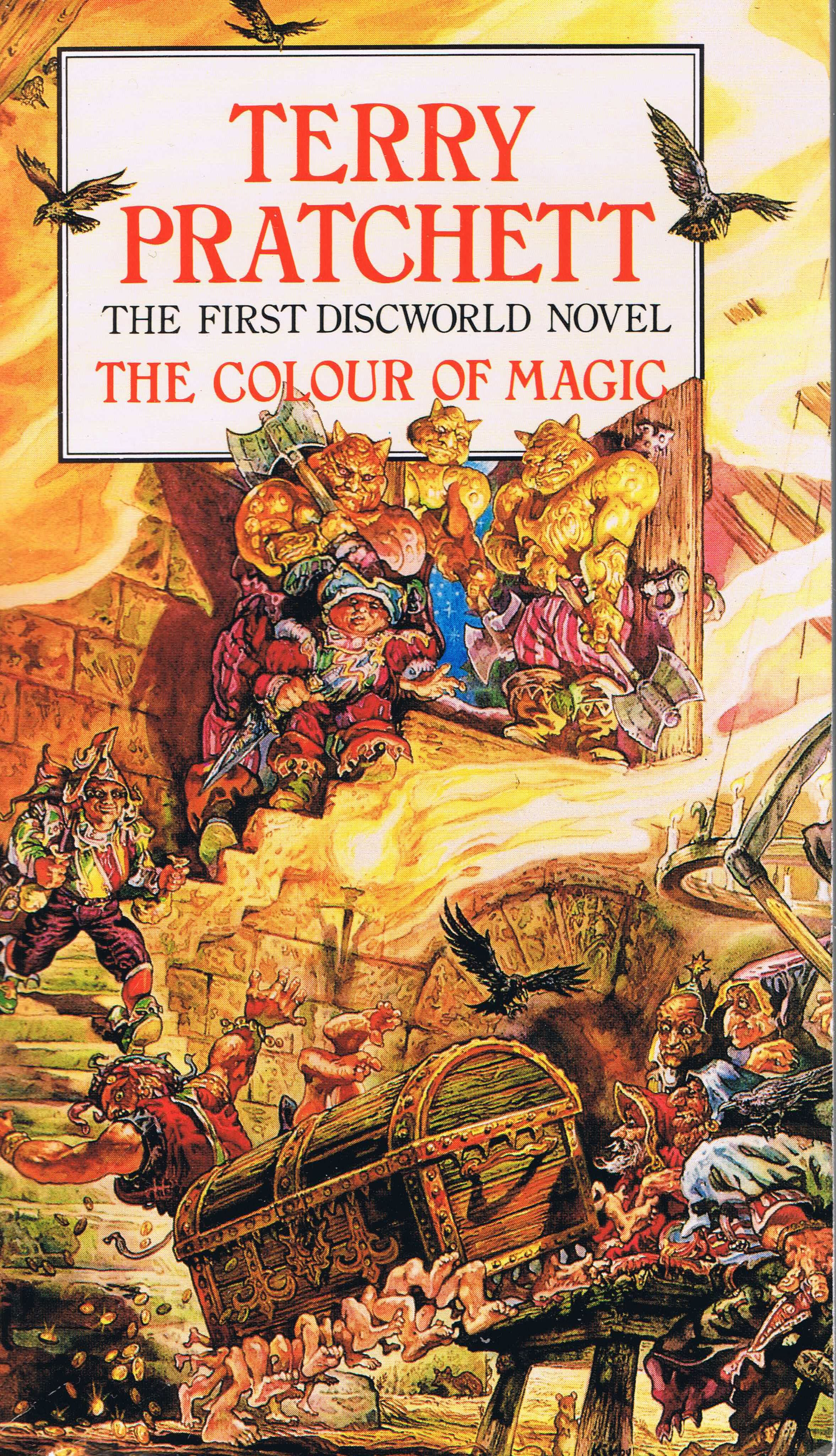 Discworld Covers Resume The Fantasy Slapstick Of Colour - Colour Of Magic Book Cover , HD Wallpaper & Backgrounds