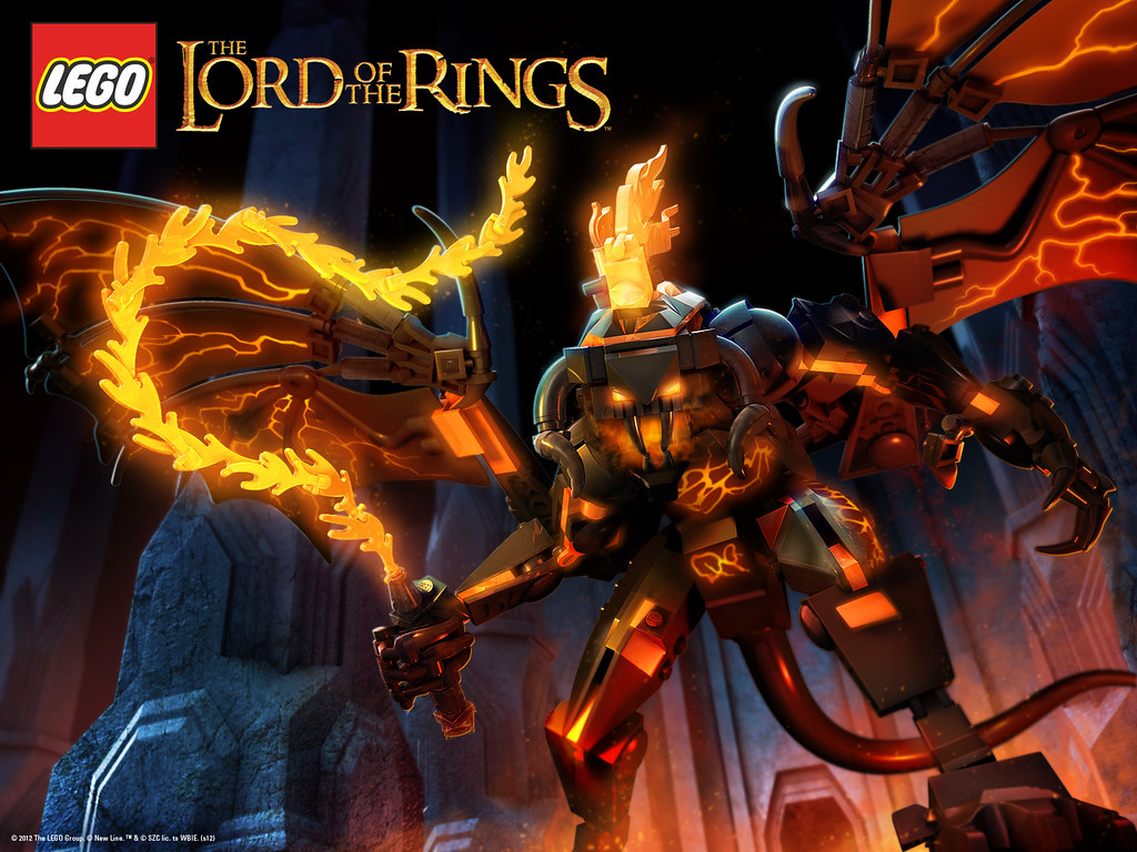 Lego Lord Of The Rings Balrog Wallpaper - Balrog Lego The Lord Of The Rings , HD Wallpaper & Backgrounds
