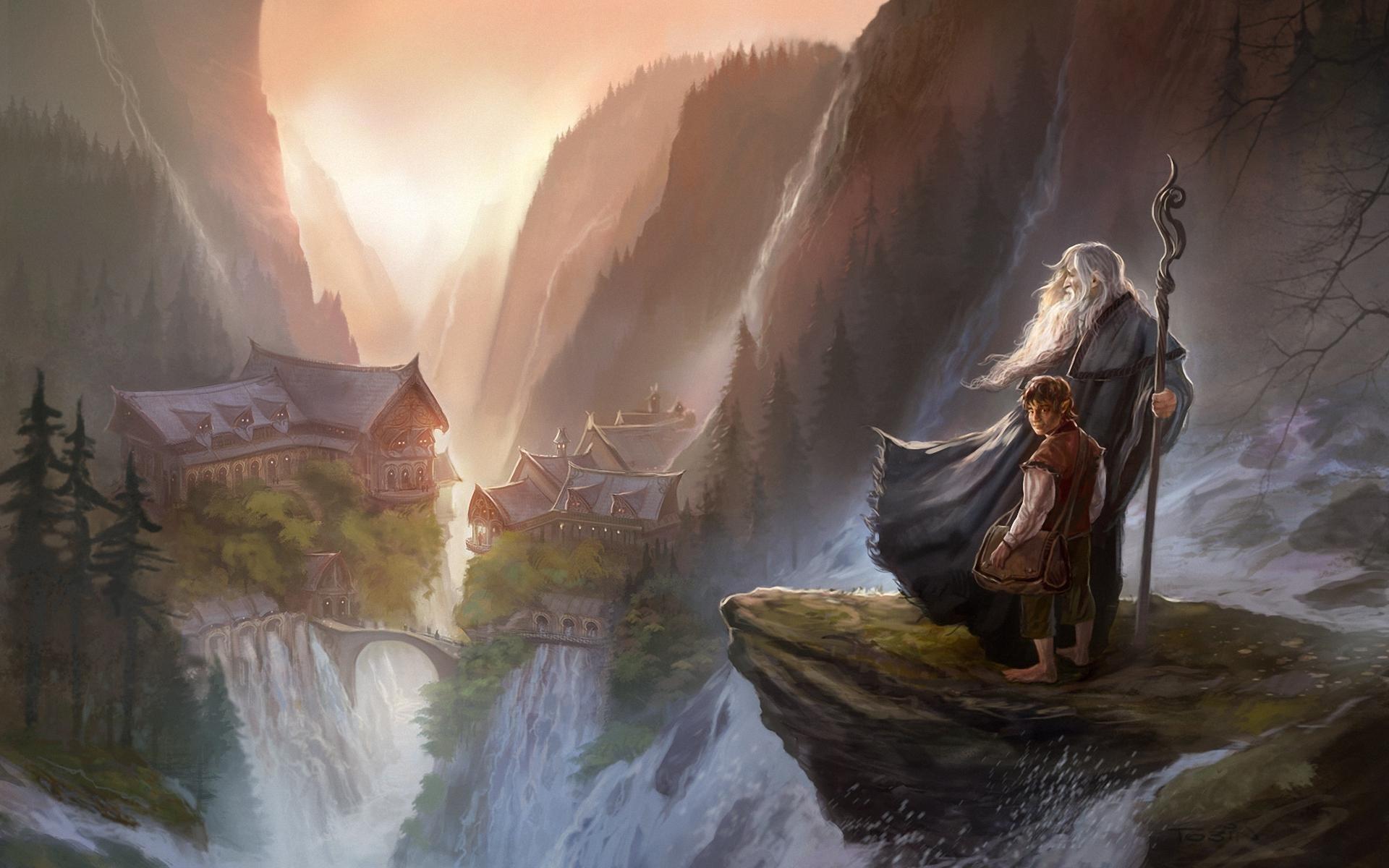 #bilbo Baggins, #the Hobbit, #digital Art, #painting, - Lord Of The Rings Digital Art , HD Wallpaper & Backgrounds