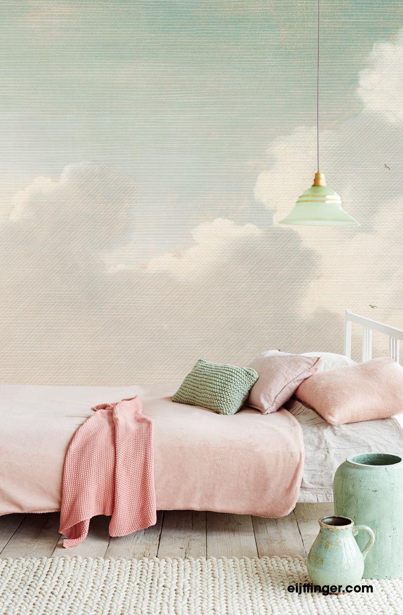 Masterpiece Behang Eijffinger - Light Green And Pink Bedroom ...