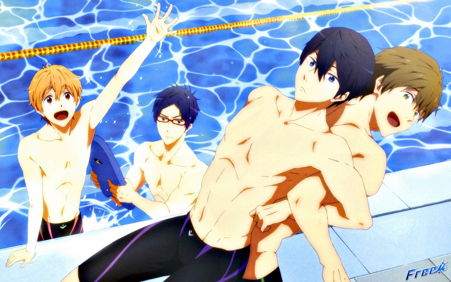 Free Wallpaper Anime Haruka Nanase Gou Matsuoka Makoharu Haruka Makoto Nagisa Rei 1135905 Hd Wallpaper Backgrounds Download One of the close friends you had made in the small town of iwatobi. free wallpaper anime haruka nanase gou