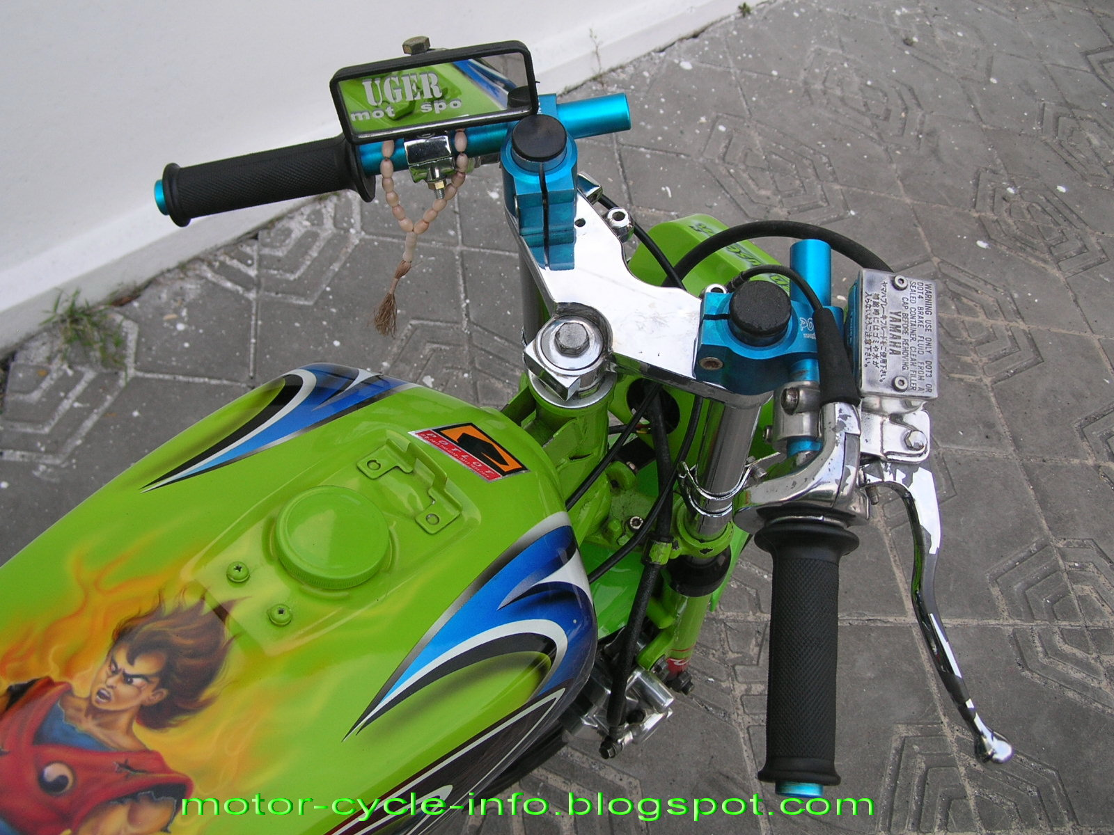 Poto Yamaha Rx King Modifikasi Rx King Warna Hijau 2018