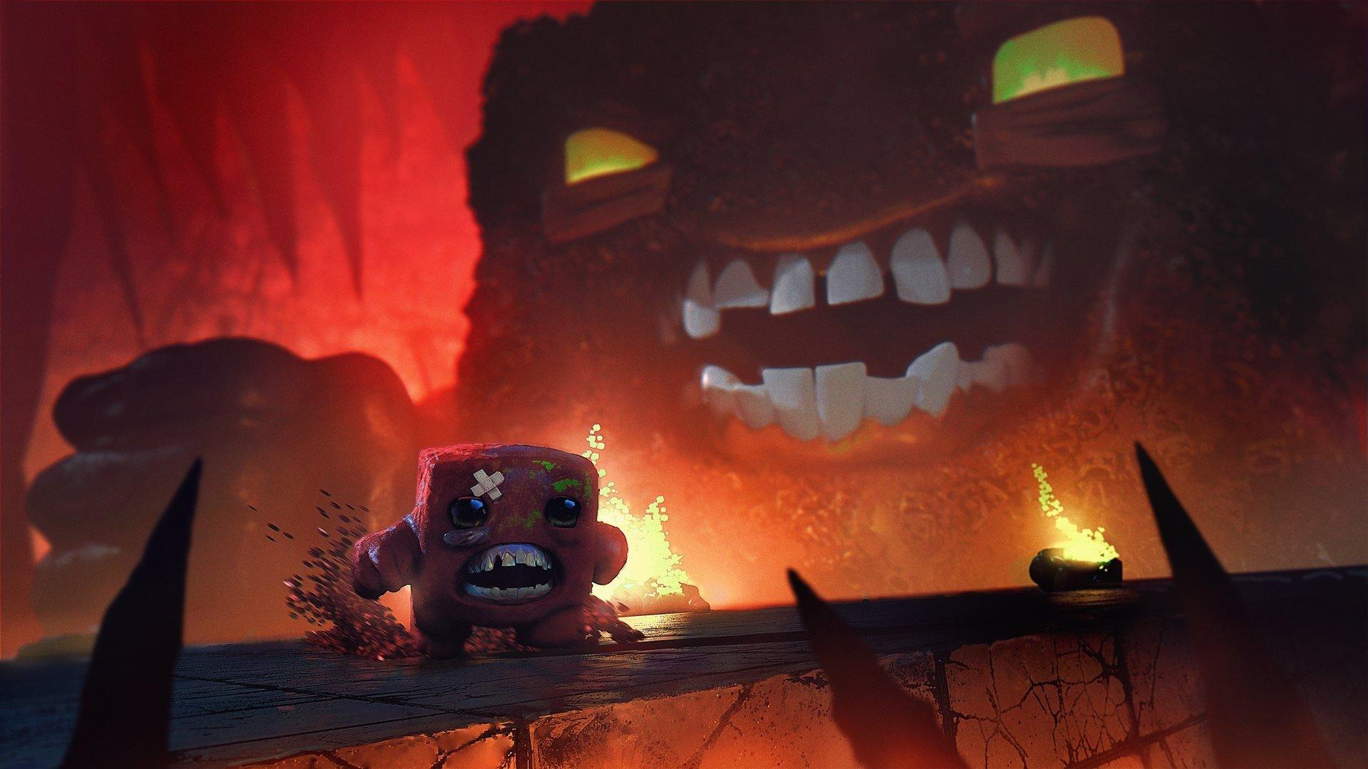 Super Meat Boy Hd Wallpaper - Super Meat Boy Art , HD Wallpaper & Backgrounds