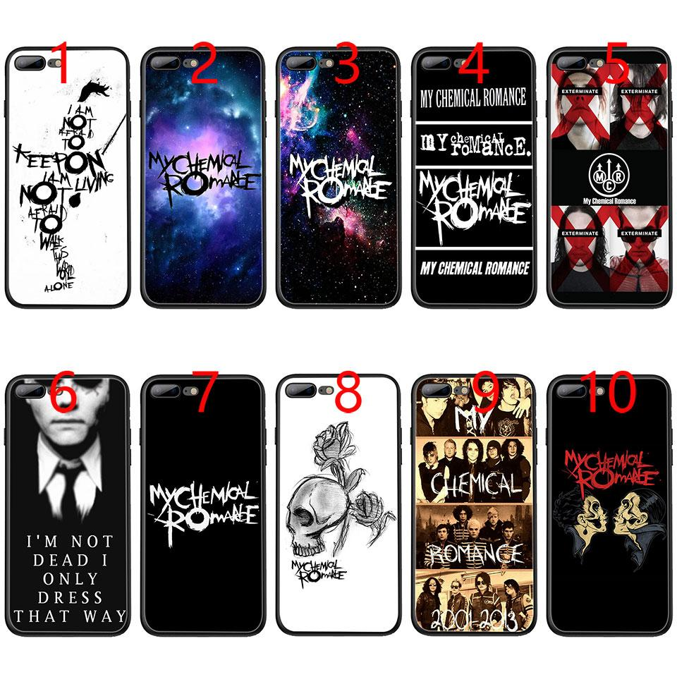 My Chemical Romance Soft Black Tpu Phone Case For Iphone Mcr