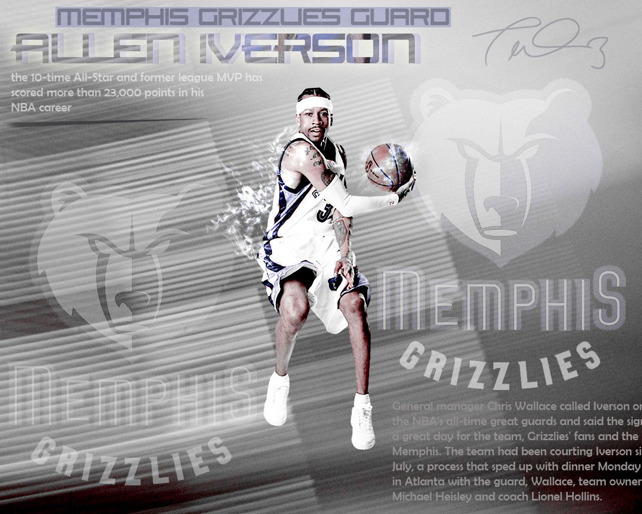 Allen Iverson Grizzlies Wallpaper Ai Memphis Grizzlies Nba