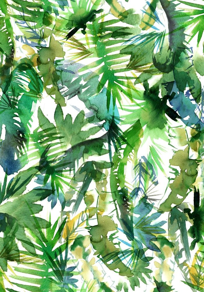 Vibe Of The Jungle A Green Art Print By Schatzi Brown Tropical Pattern Green 1143777 Hd Wallpaper Backgrounds Download
