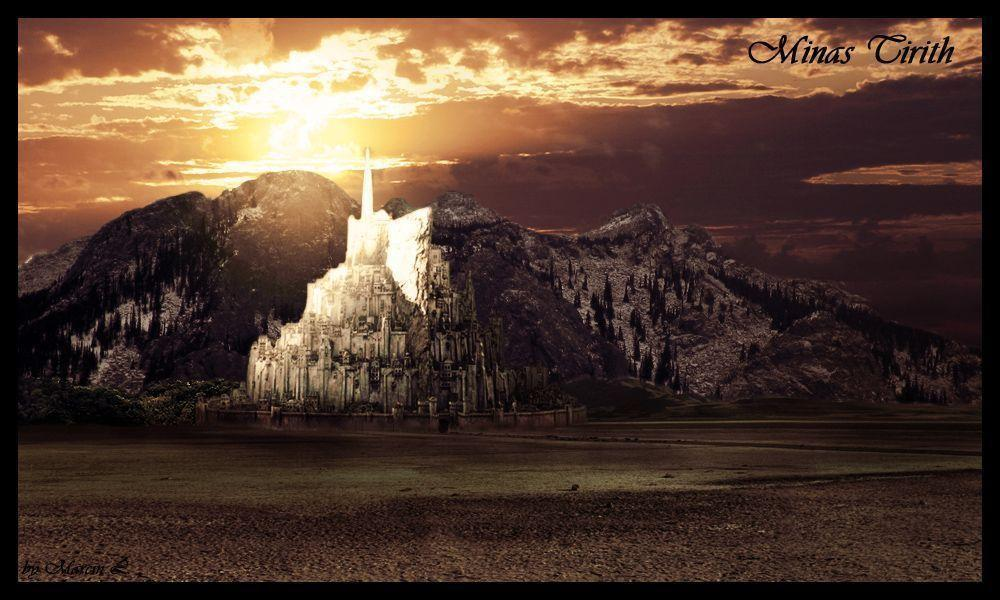 Download By Size Middle Earth Minas Tirith And Mordor Art