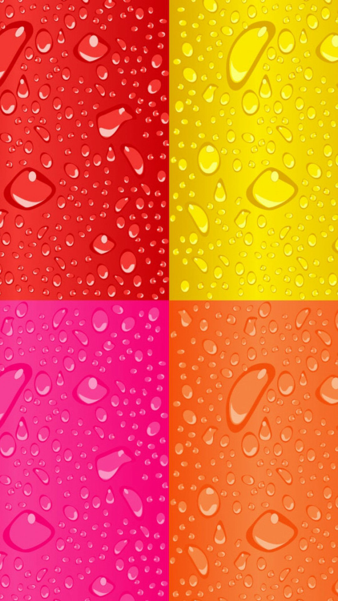 roxo laranja squares dew drops android