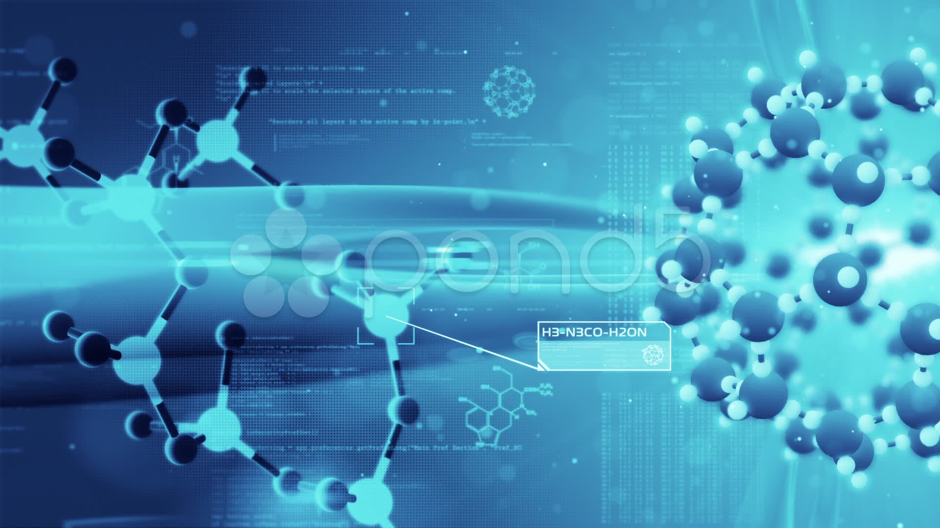 Illustration, Chemical Formula, Underwater, Chemical - Related To Science Background , HD Wallpaper & Backgrounds